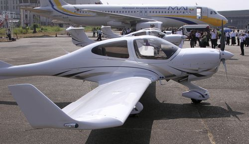 Australia's Diamond Aircraft DA-40 NG aircrafts on display during an inauguration ceremony to launch Myanmar's first privately owned pilot-training school in 2013. (AAP)