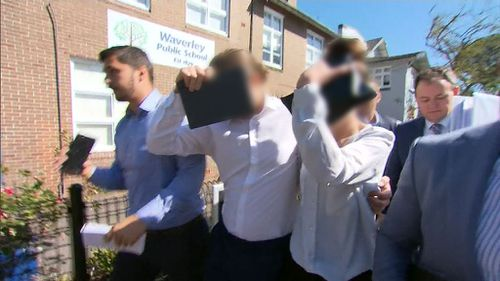 The little girl's parents outside Waverley Court today. (9NEWS)