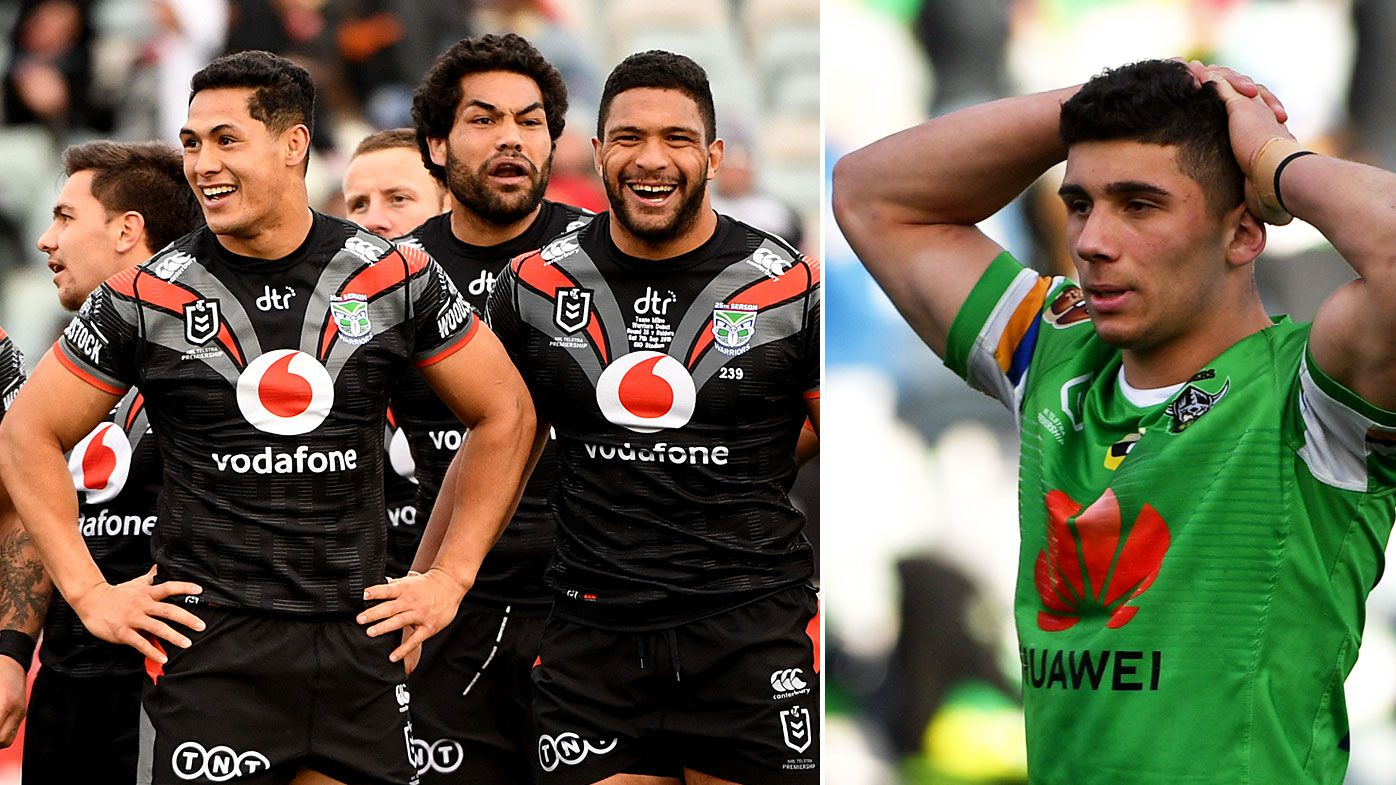 The Warriors stunned Canberra at home