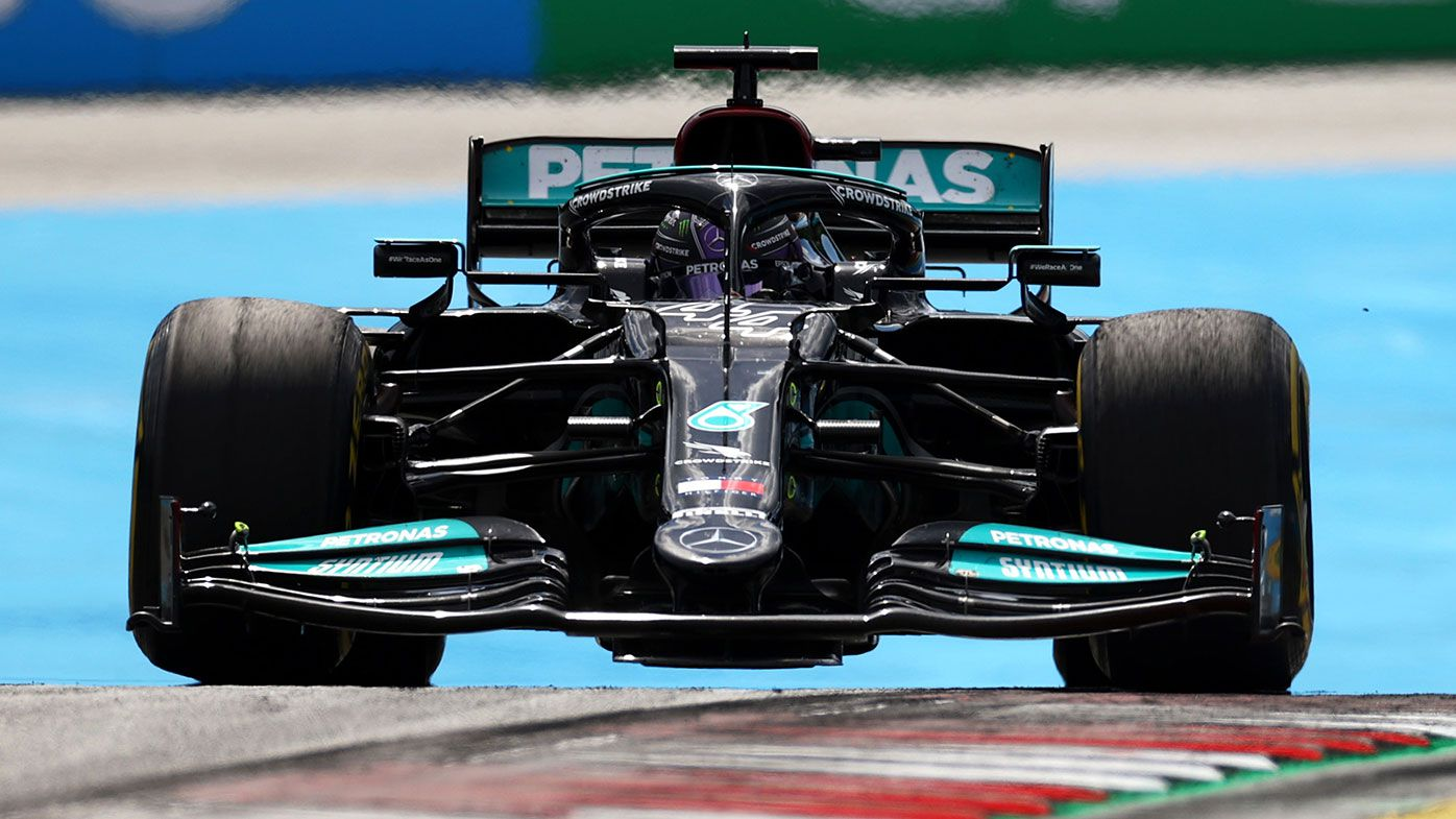 Lewis Hamilton on the way to second place at the Styrian Grand Prix.