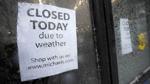 The extreme weather shut shops in Denver.