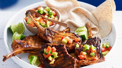 "<a href=""http://kitchen.nine.com.au/2016/05/16/19/32/mexican-pork-cutlets-with-avocado-salsa"" target=""_top"">Mexican pork cutlets with avocado salsa<br> </a>"