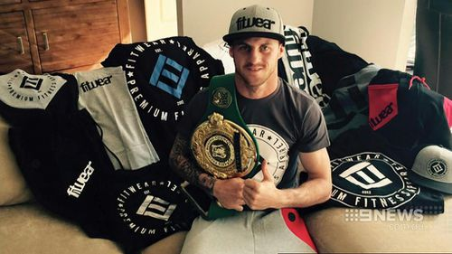Davey Browne collapsed during a fight at Sydney's Ingleburn RSL last night. (Supplied)