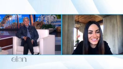 Mila Kunis made an appearance on The Ellen DeGeneres Show.