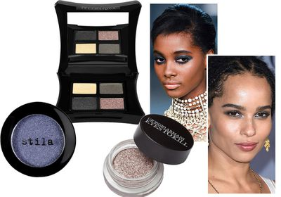 #2 Let your eyes shine with glittery shadows