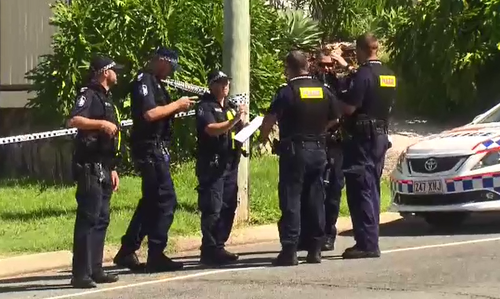 A manhunt is underway after an assailant shot a man on the Gold Coast this afternoon.