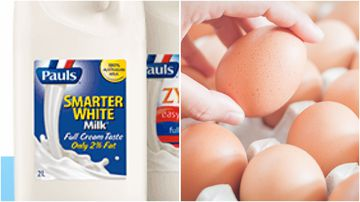 A range of Paul's Milk, Coles Milk and egg products have been recalled amid fears they are contaminated.