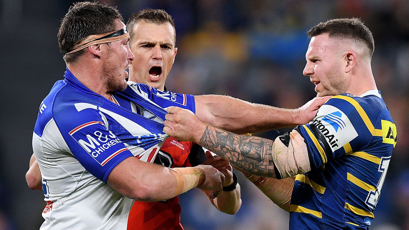 Parramatta's Nathan Brown faces ban over ugly shoulder charge