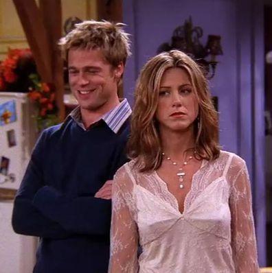 Brad Pitt and Jennifer Aniston on Friends.