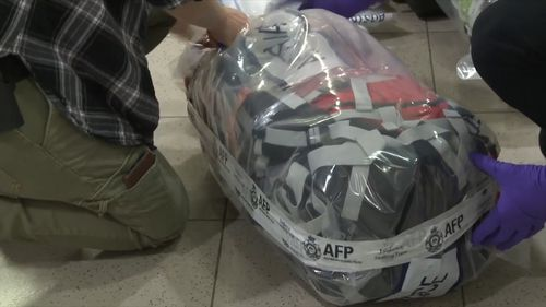 The Australian Federal Police seized 38 kilograms of methamphetamine at Sydney Airport today.