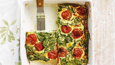 "Recipe:&nbsp;<a href=""http://kitchen.nine.com.au/2016/05/17/10/02/roast-tomato-frittata"" target=""_top"">Roast tomato frittata</a>"