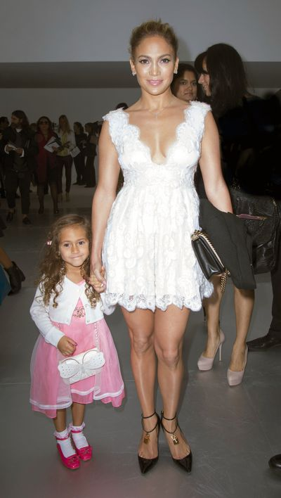 Jennifer Lopez took her daughter Emme, four at the time, to a Chanel fashion show where the toddler sported a$2,800 white Chanel handbag.