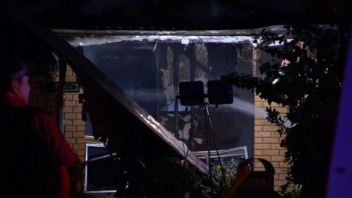 The explosive fire was fuelled by a gas tank at the property. Image: 9News