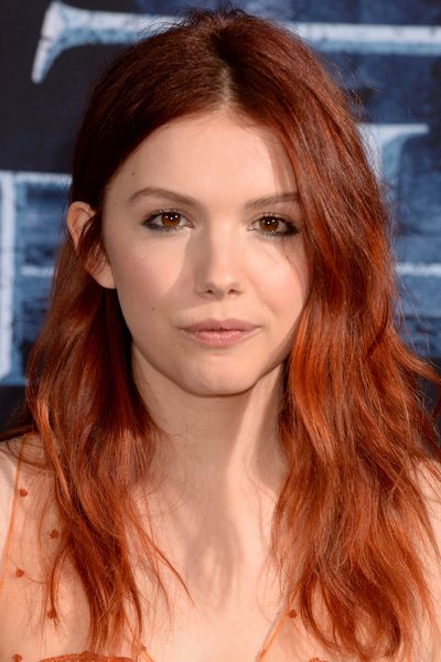 Hannah Murray (Gilly) opted for a mane of fiery red hair.