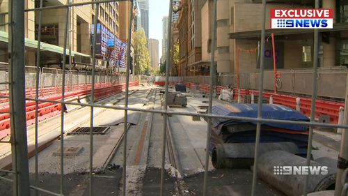 Construction of Sydney's much maligned CBD-South East Light Rail is woefully late. (9NEWS)