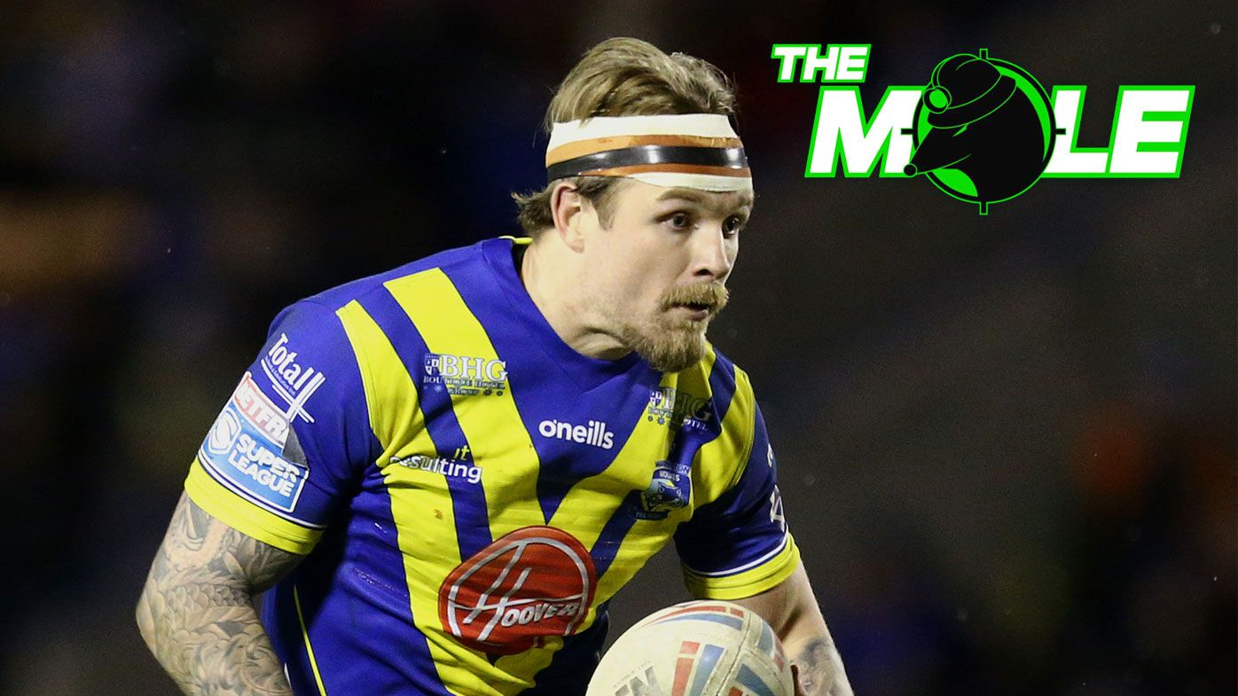 Blake Austin in action for Warrington Wolves.