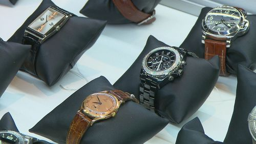More than two dozen of Crowe's watches are up for sale. (9NEWS)