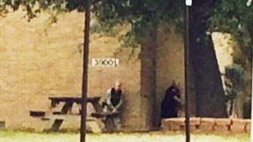 Scenes from the Fort Hood Army Base in Texas where a gunman who opened fire has reportedly been shot dead. (Twitter)