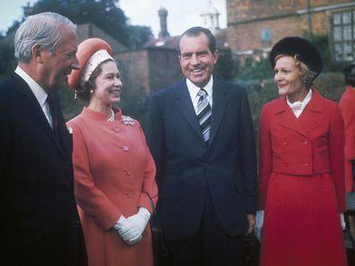 Queen Elizabeth II with Richard Nixon