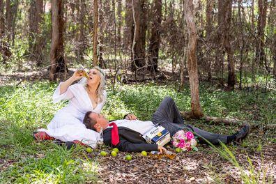 Couple do hilarious 'postponement' shoot after coronavirus cancels wedding