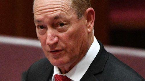 Katter Australia Party senator Fraser Anning.