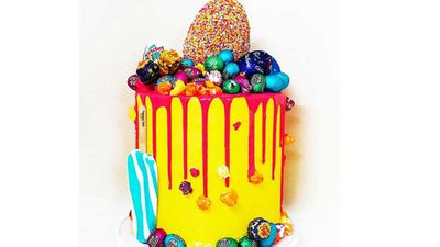 """Our favourite school boy sweet maker Jonathan Massaad of<a href=""""http://www.sugarhighdesserts.com.au/"""" target=""""_top"""" draggable=""""false"""">Sugar High Desserts</a>fame is back baking hard for Easter. We've loved his creations in thew past (check out the full storyhereandhere), and we're head over heels at the idea of his exploding Easter eggs cake, packed full of sweet treats and topped with the seasonal jumbo egg. Find out more onhis websitefor details on how to order.<br /> <br /> RRP - prices vary with size"""