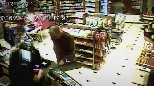 The CCTV obtained by the New York Times shows Stephen Paddock carefully plan the shooting massacre. (Supplied)