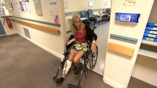 Ms Foley is recovering from a broken leg and reduced to living on $150 a week.