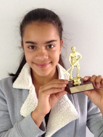Raj and Yasmin trophy