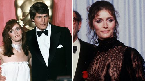 Margot with Christopher Reeve at the Oscars in 1979, left, and in 1981. Pictures: Getty
