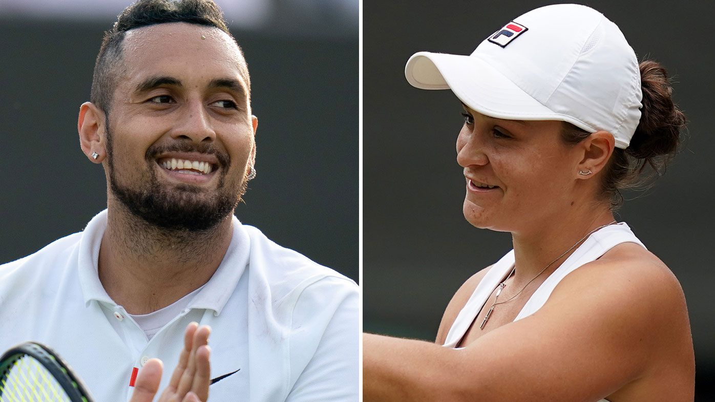 Nick Kyrgios had nothing but praise for Ash Barty ahead of her Wimbledon final showdown. (Getty)