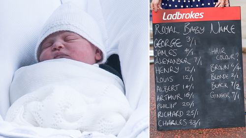 A woman won $8000 after placing a bet that the new prince would be named Louis. (PA/AAP)
