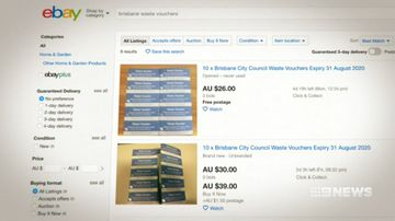 Queensland residents are selling tip vouchers online.