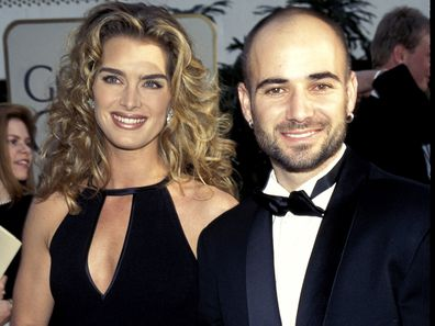 Andre Agassi & Brooke Shields at the Beverly Hilton Hotel in Beverly Hills, California