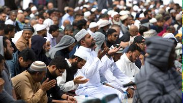 Thousands of mourners and muslims gathered for the Call to Prayer at 1.30pm New Zealand time.