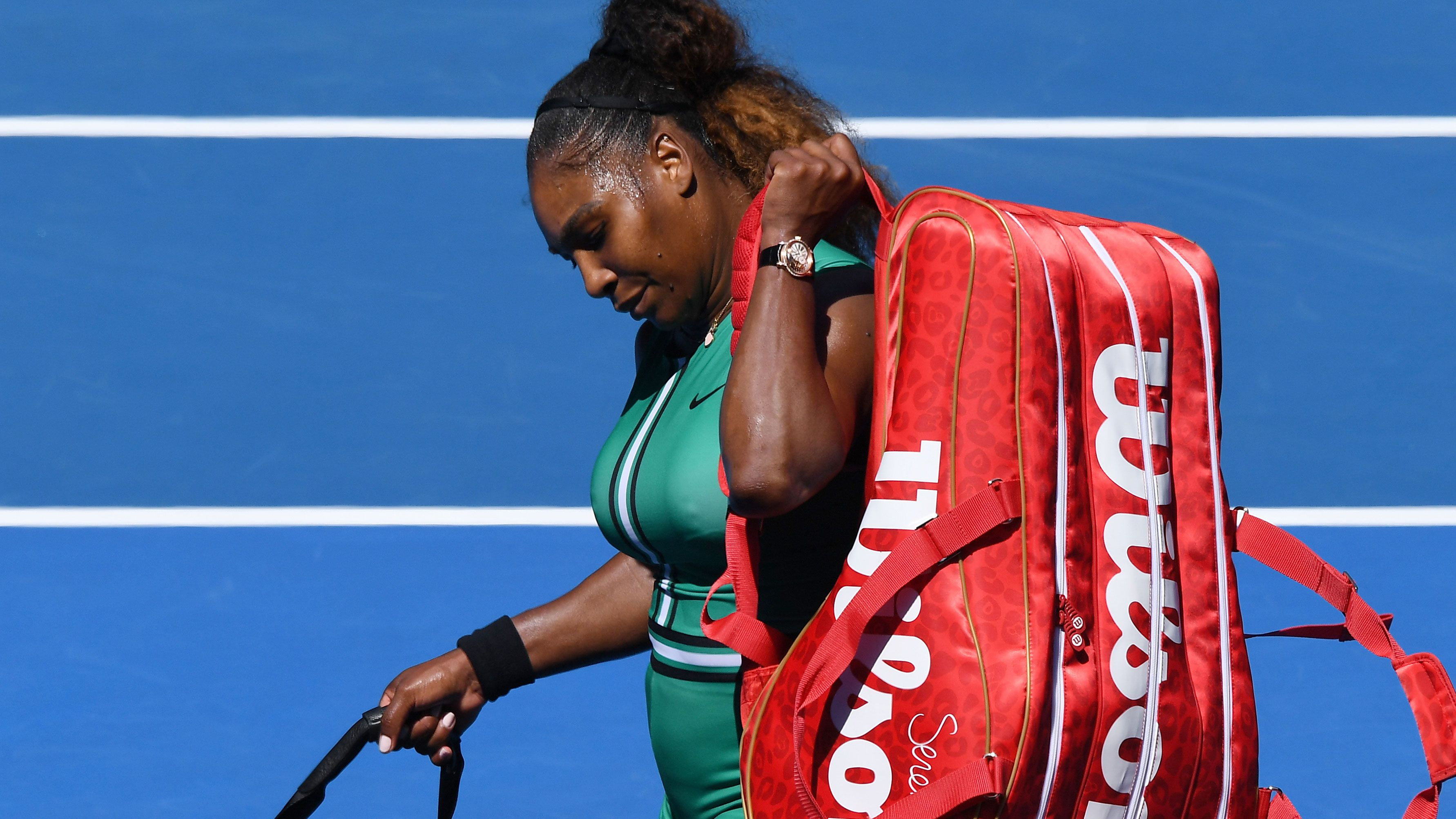 Serena Williams dumped out of Australian Open in shock loss to Karolina Pliskova