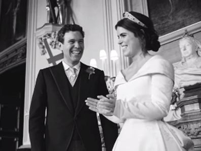Princess Eugenie and Jack Brooksbank on their wedding day.