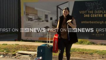 Amber Harrison arrives at apartment ahead of statement deadline