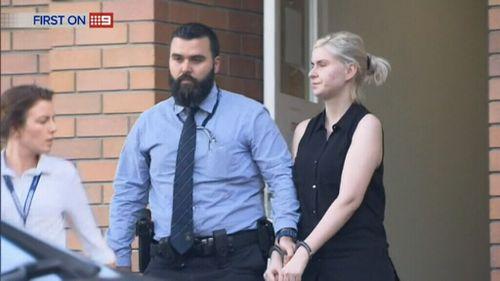 Simona Zafirovska is arrested by police.
