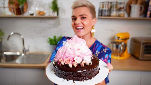 Jane de Graaff's go-to recipe for one-bowl chocolate cake with ganache topping