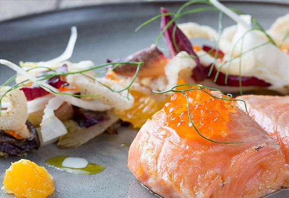 42° confit Huon salmon with butter sauce
