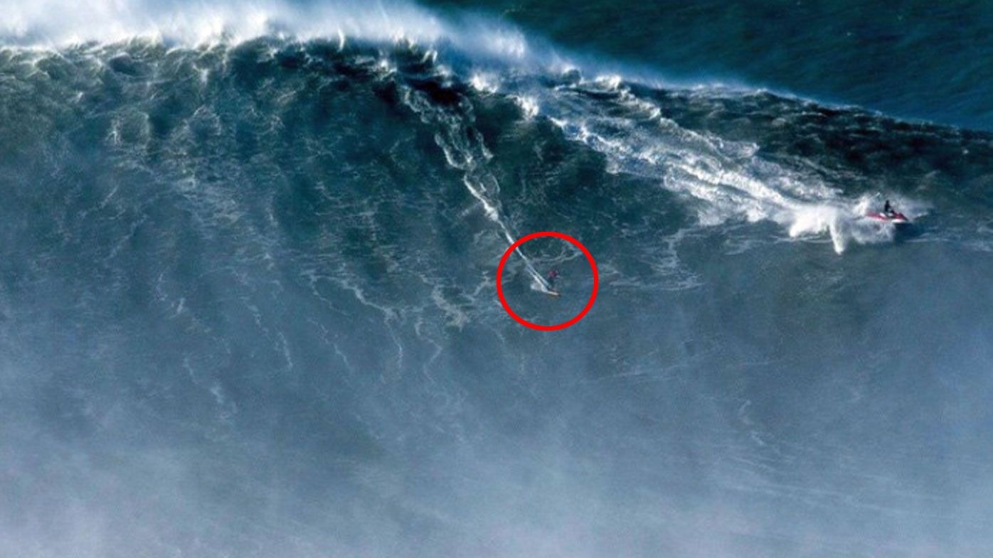 Brazilian surfer Rodrigo Koxa breaks wave world record