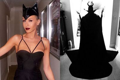 Our local gal Imogen Anthony took a leaf out of Hollywood's book of scary stories and stepped out in this head turning outfit (left) last week. <br/><br/>Although we're still hanging out for the full reveal of her magnificent Maleficent costume (right).