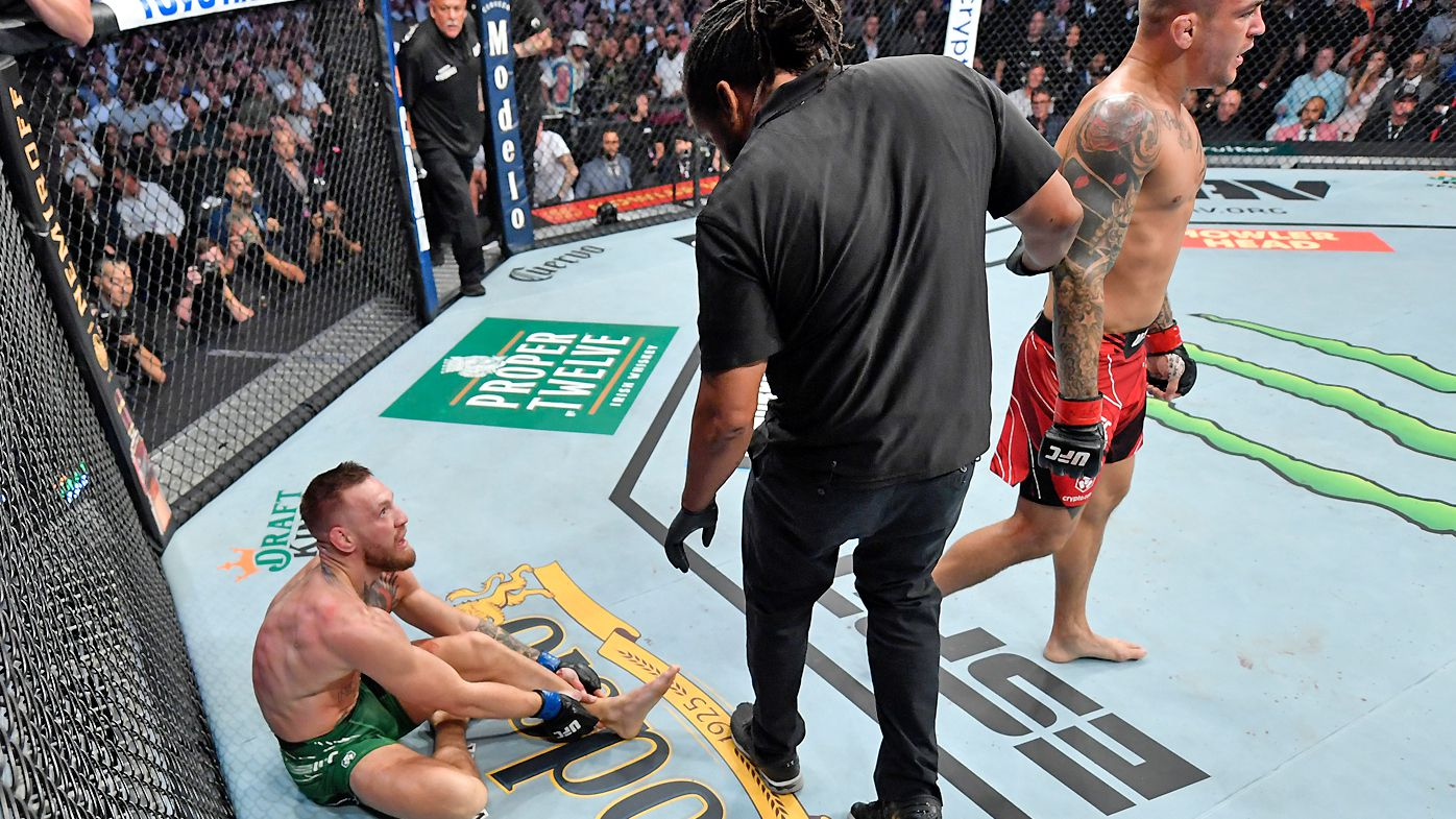 'This is not over': Conor McGregor loses UFC 264 fight with Dustin Poirier after leg break