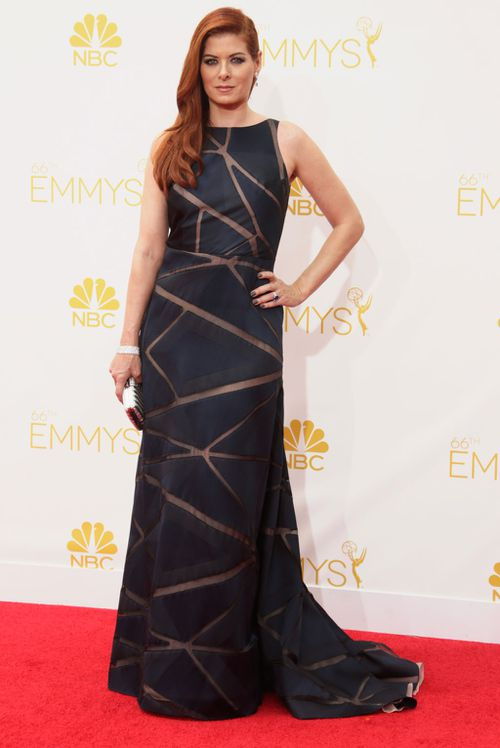 Debra Messing strikes a pose. (Getty Images)