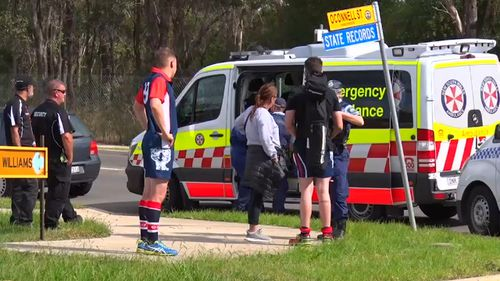 Emergency services at the scene in Kingswood this morning. (9NEWS)