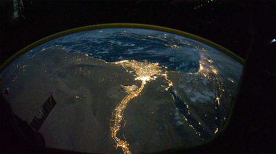 From 354km above earth, one of the Expedition 25 crew members took this night time photo featuring the bright lights of Egypt. (NASA)