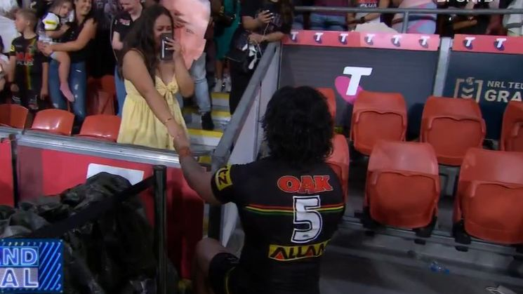 Panthers star Brian To'o proposes to partner after winning NRL grand final