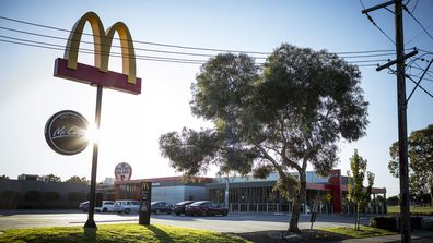 The McDonalds fast food restaurant in Craigeburn were a positive Covid-19 test was recorded.