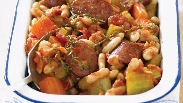 Quick bean and chorizo cassoulet
